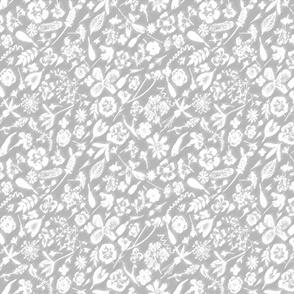 grey white garden