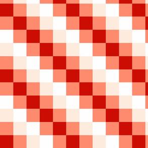 Diagonal Checkered Stripes - C
