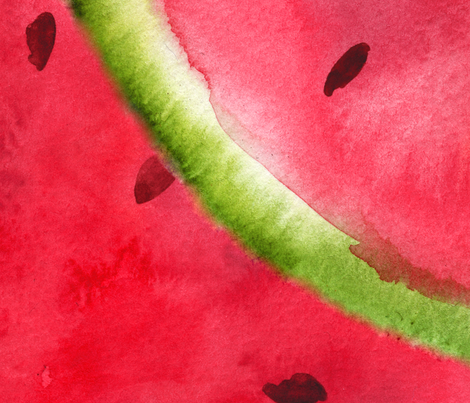 Watermelon Pattern fabric by svetlana_prikhnenko on Spoonflower - custom fabric