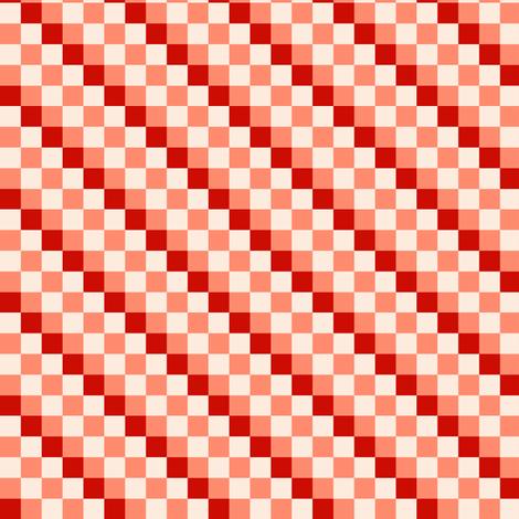 Checkered Diagonal Stripes - D fabric by heckadoodledo on Spoonflower - custom fabric
