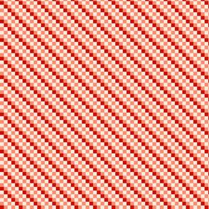 Checkered Diagonal Stripes - D