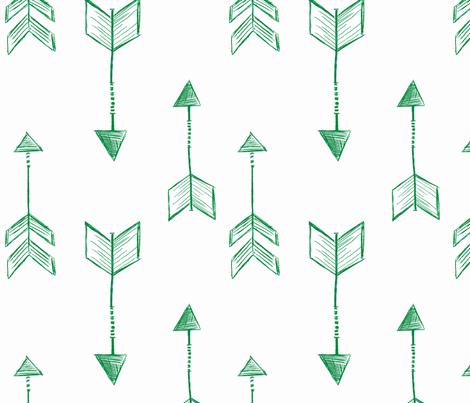 Arrow Sketch Green fabric by averielaneboutique on Spoonflower - custom fabric