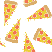 pizza // junk food kids white background pizza print cute pizza food