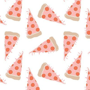 pizza // pink pizza pepperoni pizza junk food kids