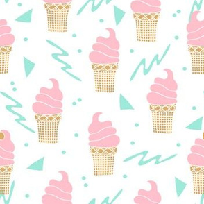 ice cream cone // rad kids triangle summer pastel mint and pink ice cream sweets
