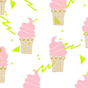 ice cream // ice cream cone mint purple pastel sweets summer cute pastel ice cream shop