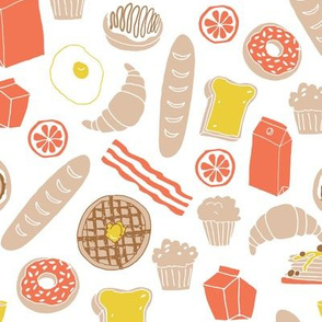 brunch // waffles donuts french toast pancakes food eggs croissants breakfast food