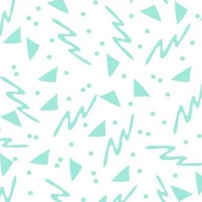 90s shapes // mint kids summer novelty triangle memphis 80s 90s rad kid