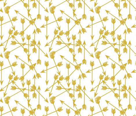 arrow // arrows mustard yellow outdoors adventure adventurers arrows nursery gender neutral kids boys  fabric by andrea_lauren on Spoonflower - custom fabric