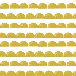 scallop // scallops yellow mustard gold yellow scallops kids nursery baby