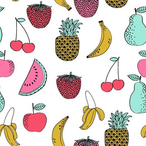 fruit // summer tropical fruits foods watermelon banana summer food print