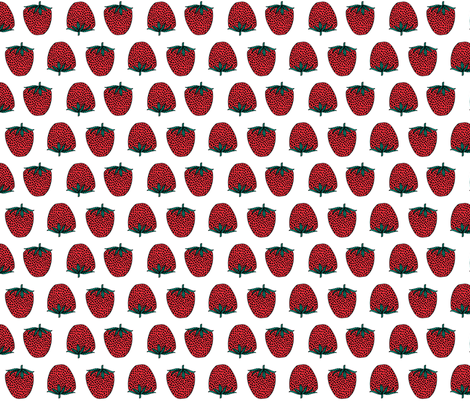 strawberry // strawberries fruits red fruit sweet food summer  fabric by andrea_lauren on Spoonflower - custom fabric