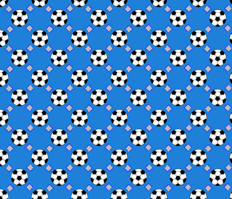 Soccer blue pattern fabric by rhyannon on Spoonflower - custom fabric