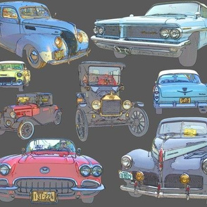 Dean's Antique Car Collage