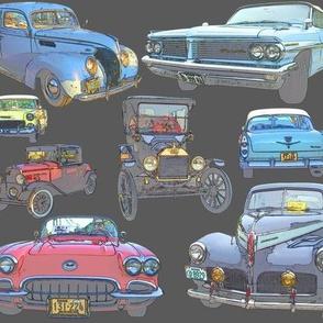Dean's Antique Car Collage
