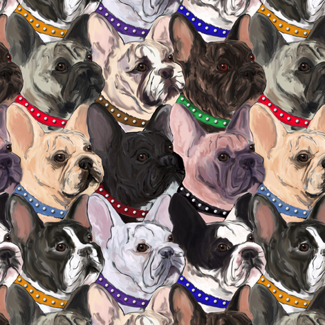 French Bulldogs fabric by eclectic_house on Spoonflower - custom fabric