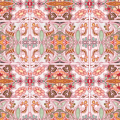 Victims of the Flying Flower Syndrome fabric by edsel2084 on Spoonflower - custom fabric