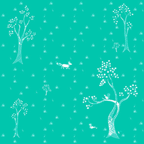 Turquoise Dotty Forest
