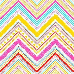 Aztec zigzag in vibrant colors