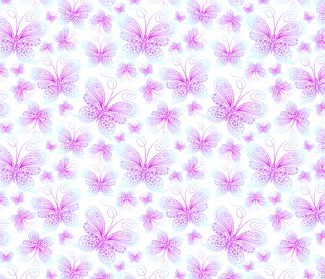 Daydreaming butterflies fabric by mzwonko on Spoonflower - custom fabric
