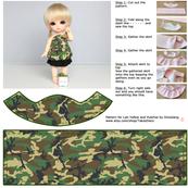 [Lati Yellow] Cut and sew - Green Camouflage dress