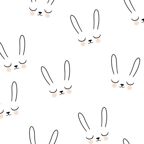 Sleepy Bunny fabric by kimsa on Spoonflower - custom fabric