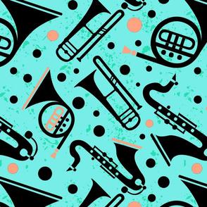 Musical Horns Aqua