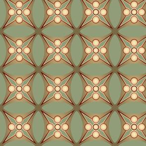 Green Star Roman Tile