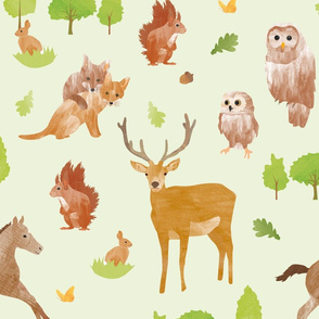 Forest friends - woodland animals
