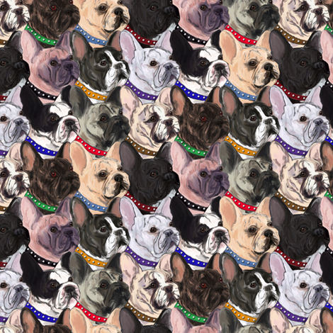 French Bulldogs 2 fabric by eclectic_house on Spoonflower - custom fabric