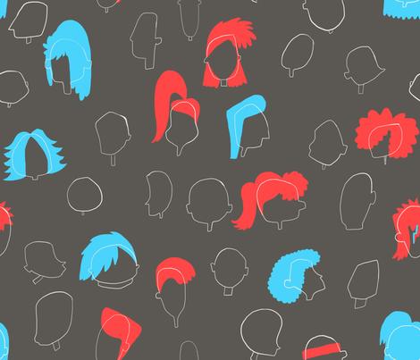 Hairdo! fabric by veravg on Spoonflower - custom fabric