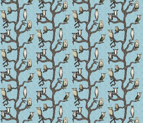 Mid Century Owls fabric by hollywood_royalty on Spoonflower - custom fabric