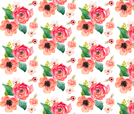 "Floral Dreams in 6"" fabric by shopcabin on Spoonflower - custom fabric"