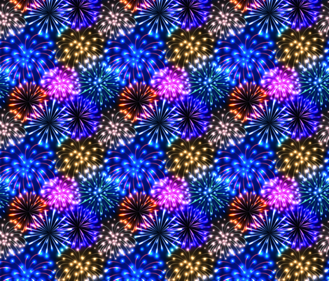 fireworks (small scale) fabric by svetlana_prikhnenko on Spoonflower - custom fabric