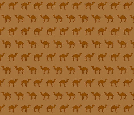 Chocolate Camels fabric by katarra on Spoonflower - custom fabric