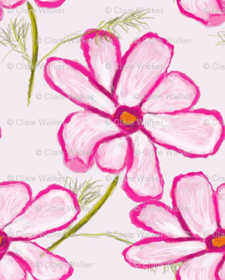 Pink Cosmo Flower Pattern