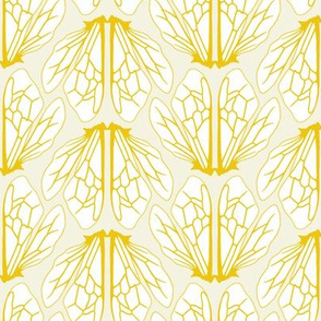 Wings of bees pale yellow