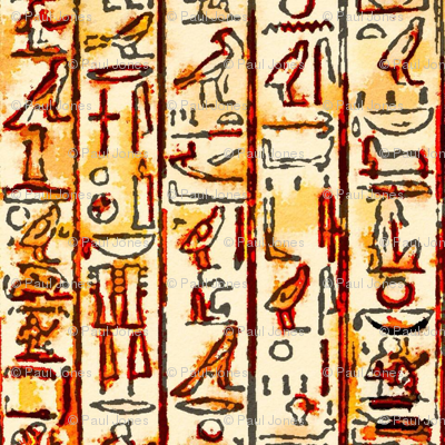 Ancient Egyptian Hieroglyphic Art