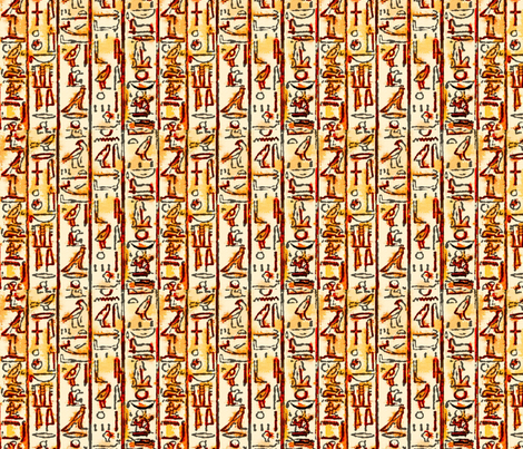 Ancient Egyptian Hieroglyphic Art   fabric by godfatherpaj on Spoonflower - custom fabric