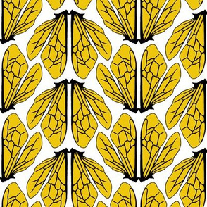 Wings of bees golden yellow