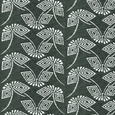 stylized ikat butterfly - grey fabric by materialsgirl on Spoonflower - custom fabric