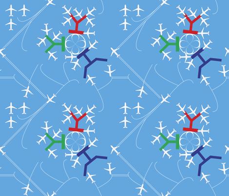 air terminal layout fabric by veerapfaffli on Spoonflower - custom fabric