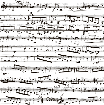 Black and white Music Notes  - LARGE