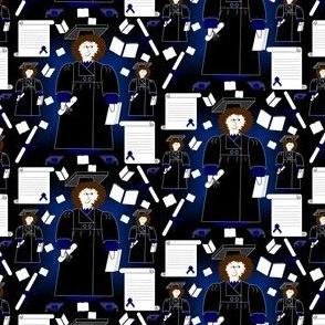 James Doll Graduation, Diploma, Cap & Gown Fabric #5