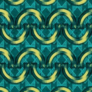 Horseshoes-Yellow-Geo-Teal