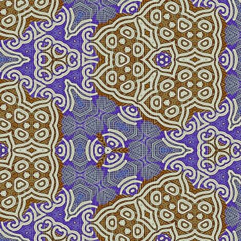 Viking Blue Gingerbread fabric by wren_leyland on Spoonflower - custom fabric
