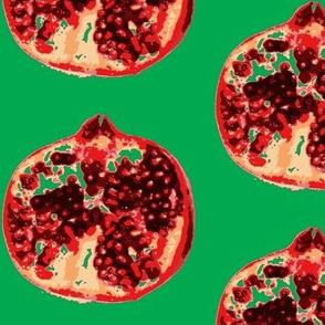 Pomegranates 2 green xxl
