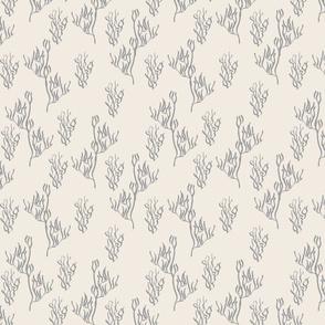 gray coral on cream