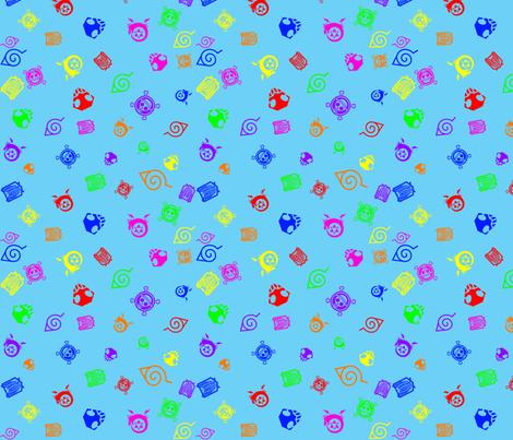Shounen Anime Blue fabric by silverbeam on Spoonflower - custom fabric