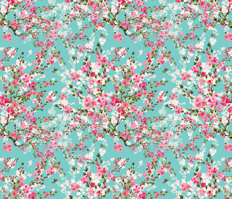 Cherry Blossoms fabric by jaxie22 on Spoonflower - custom fabric